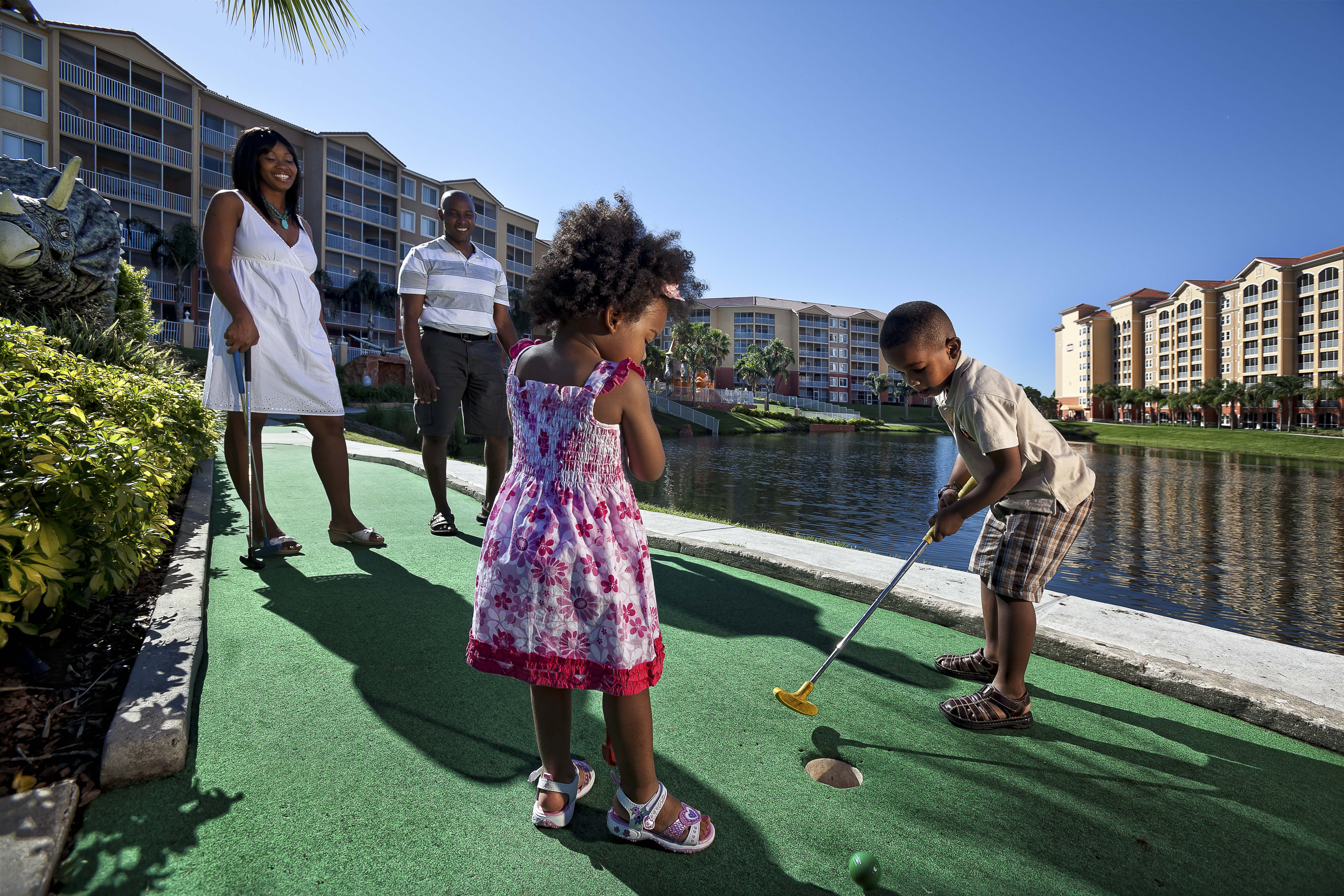 Family Playing Mini Golf | Westgate Vacation Villas Resort & Spa | Orlando, FL | Westgate Resorts