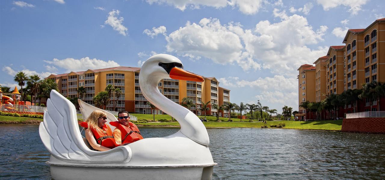 Swan Boats at Orlando Resort   Westgate Town Center Resort & Spa   Westgate Resorts