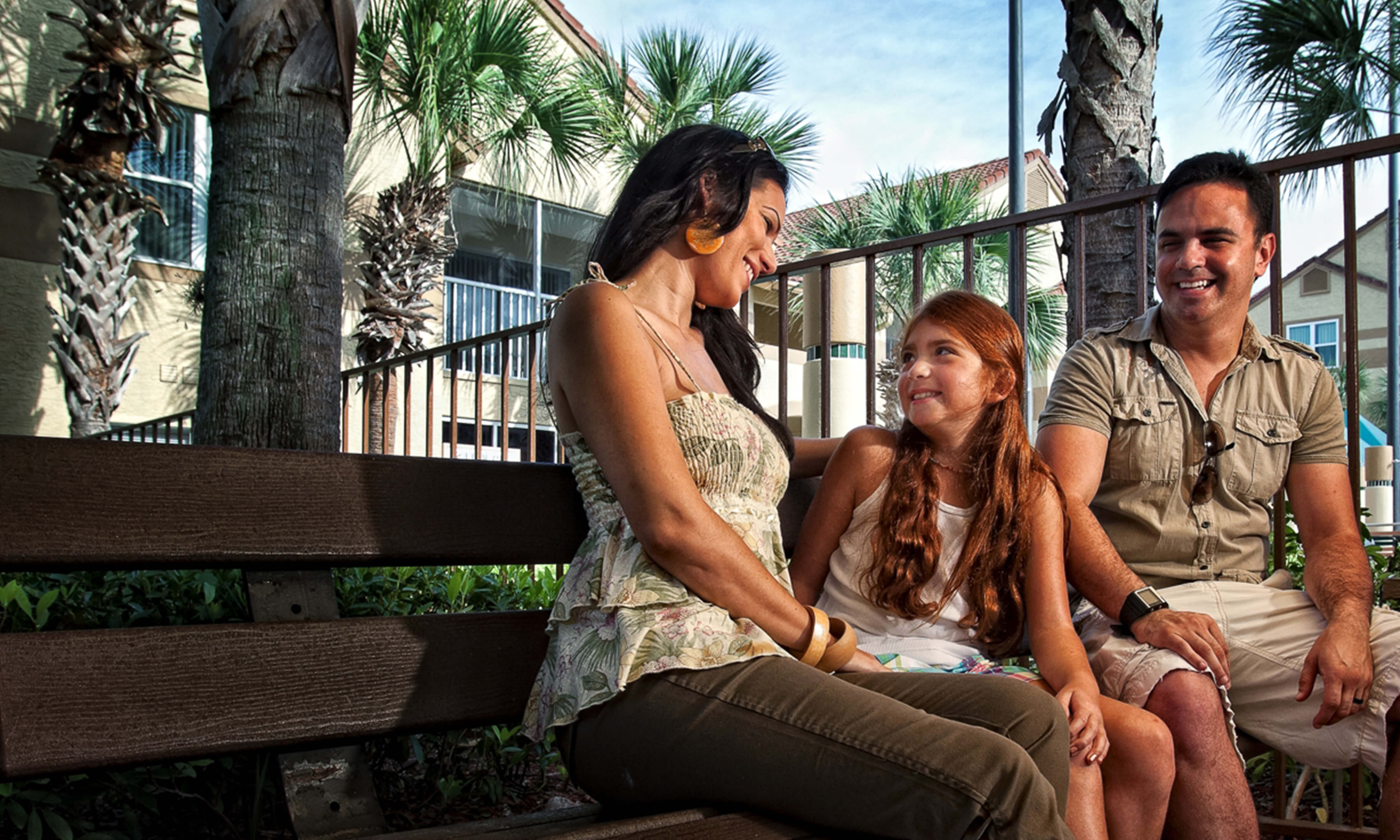 Family relaxing during their Orlando vacation | Westgate Blue Tree Resort