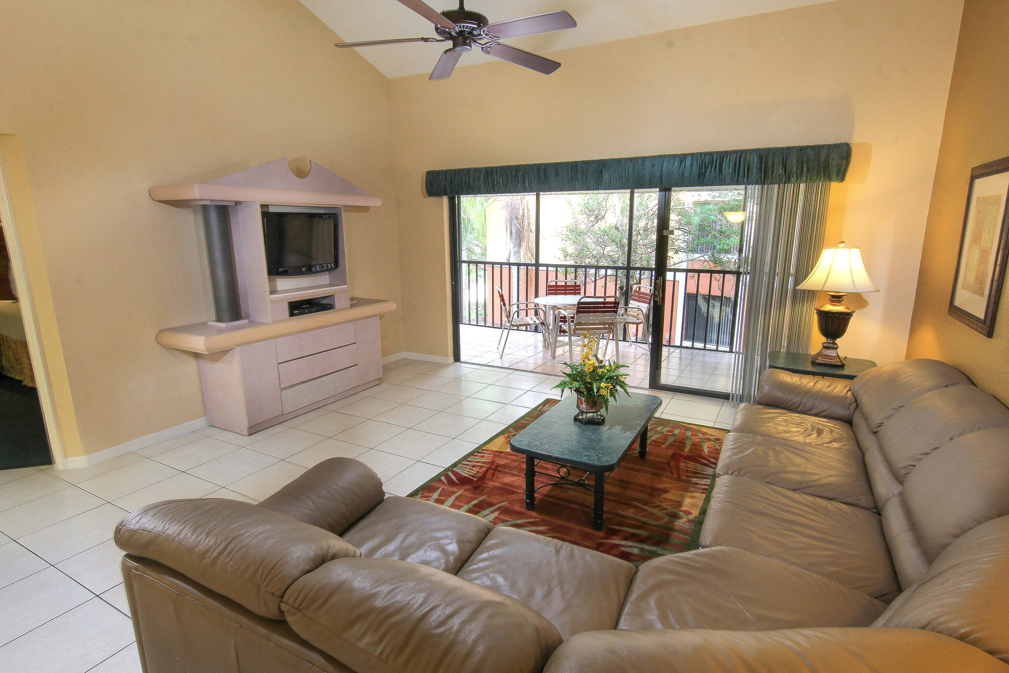Living Area with Couch and TV | Westgate Vacation Villas Resort & Spa | Orlando, FL | Westgate Resorts