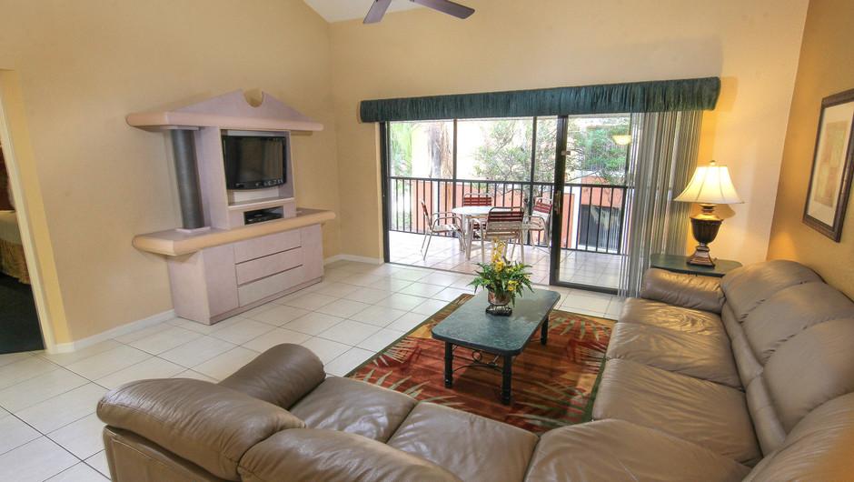 Two-Bedroom Deluxe Villa Living Area   Westgate Vacation Villas Resort & Spa   Orlando, FL   Westgate Resorts