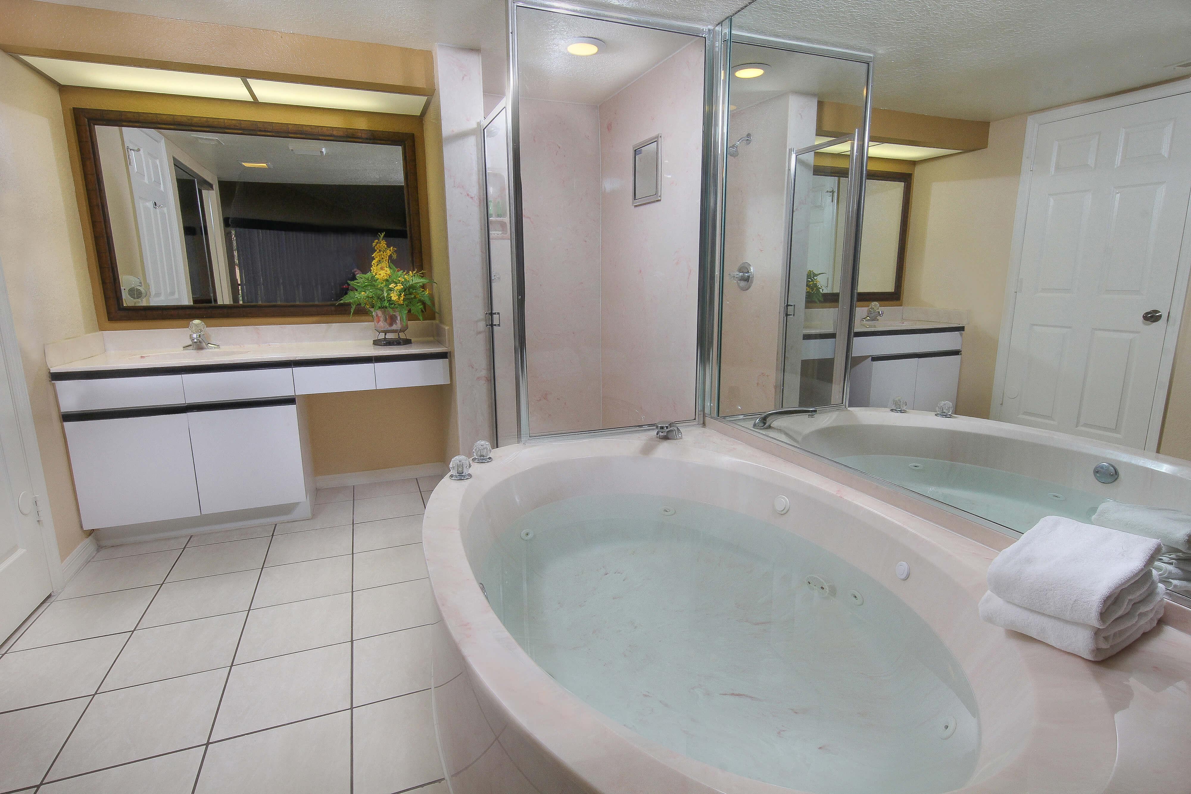 Two-Bedroom Deluxe Villa Master Bathroom | Westgate Vacation Villas Resort & Spa | Orlando, FL | Westgate Resorts