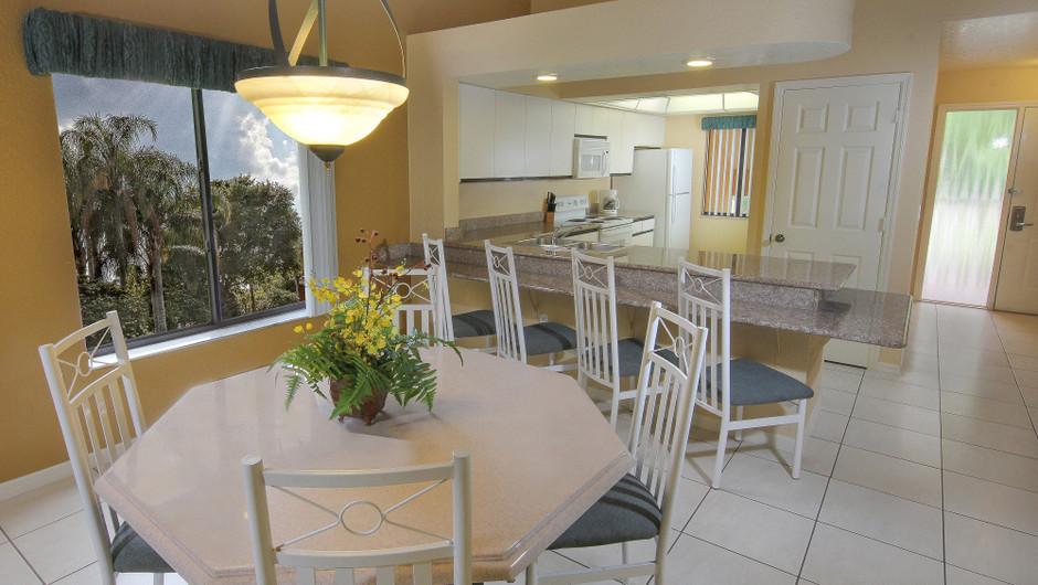 Two-Bedroom Deluxe Villa Dining and Kitchen Area   Westgate Vacation Villas Resort & Spa   Orlando, FL   Westgate Resorts