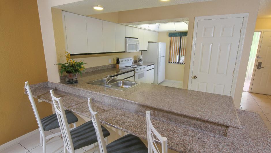 Two-Bedroom Deluxe Villa Kitchen Area   Westgate Vacation Villas Resort & Spa   Orlando, FL   Westgate Resorts