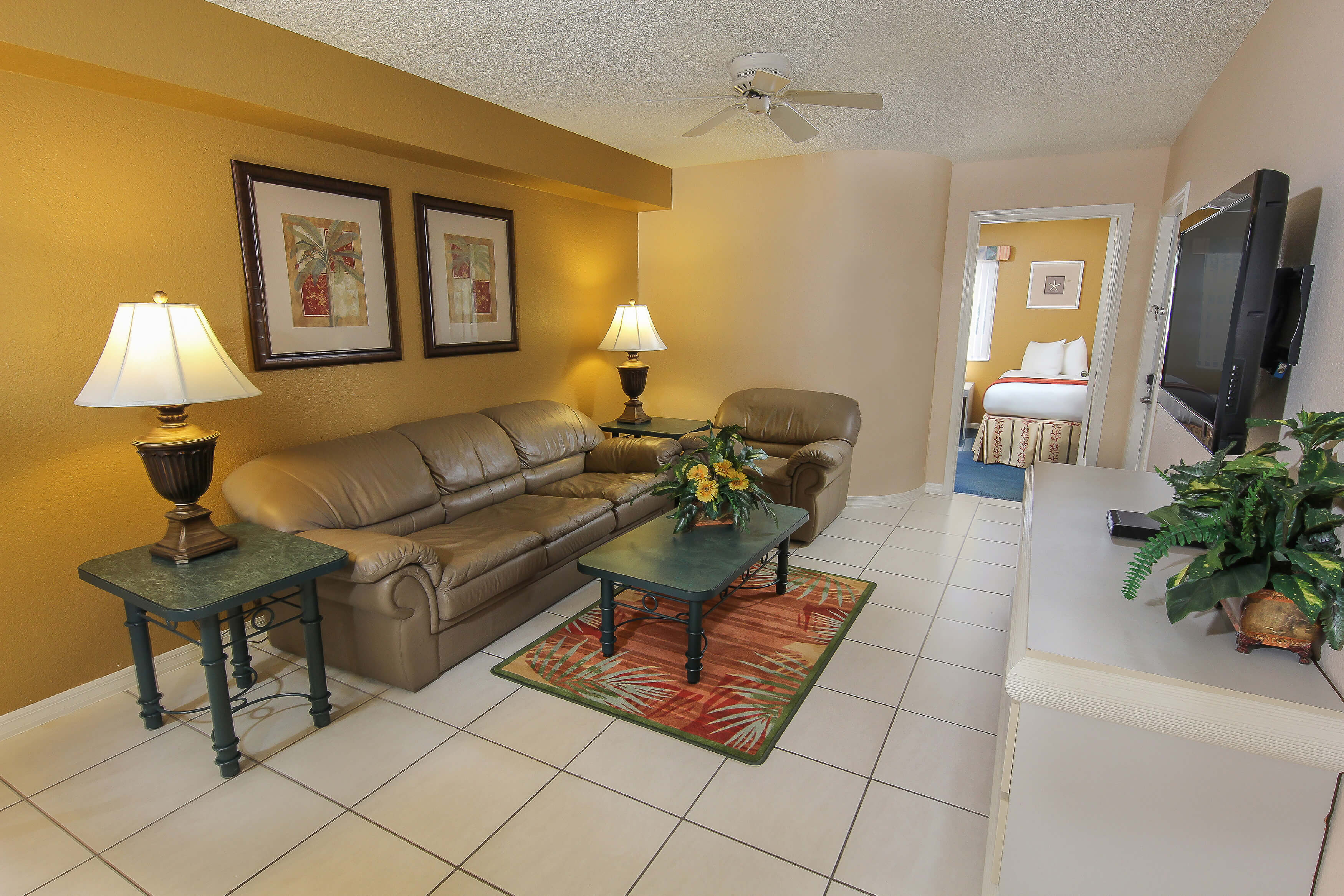 Living Area of 2 bedroom suite in Orlando, FL | Westgate Vacation Villas Resort & Spa | Orlando, FL | Westgate Resorts