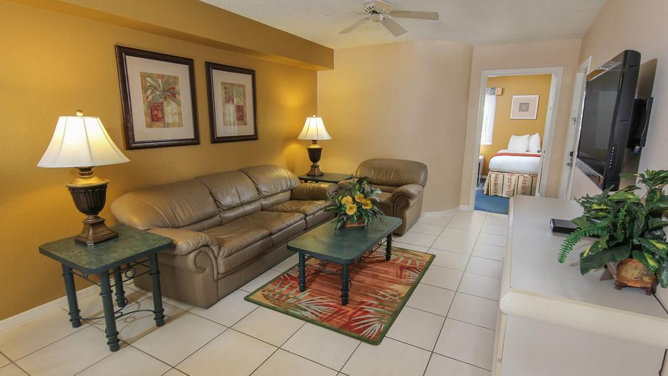 Living Area of 2 bedroom suite in Orlando, FL   Westgate Vacation Villas Resort & Spa   Orlando, FL   Westgate Resorts