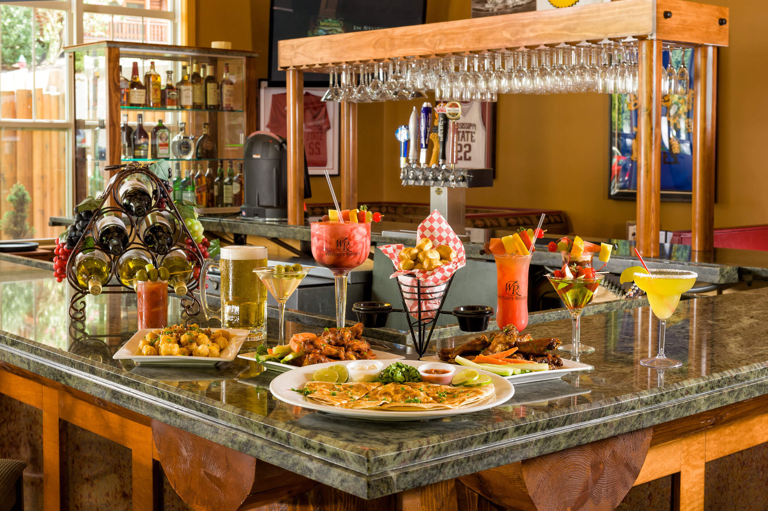 Appetizers and cocktails at onsite bar | Westgate Smoky Mountain Resort & Spa
