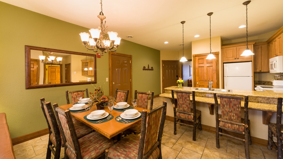 Dining Area in Three-Bedroom Villa in our Gatlinburg Villas | Westgate Smoky Mountain Resort & Spa | Westgate Resorts