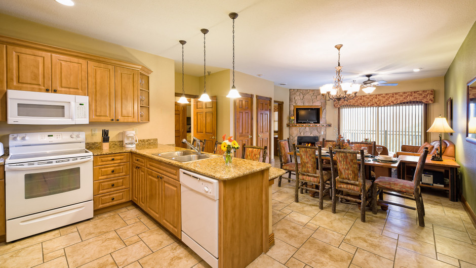 One-Bedroom Deluxe Two Full Beds Villa in our Gatlinburg Villas | Westgate Smoky Mountain Resort & Spa | Westgate Resorts