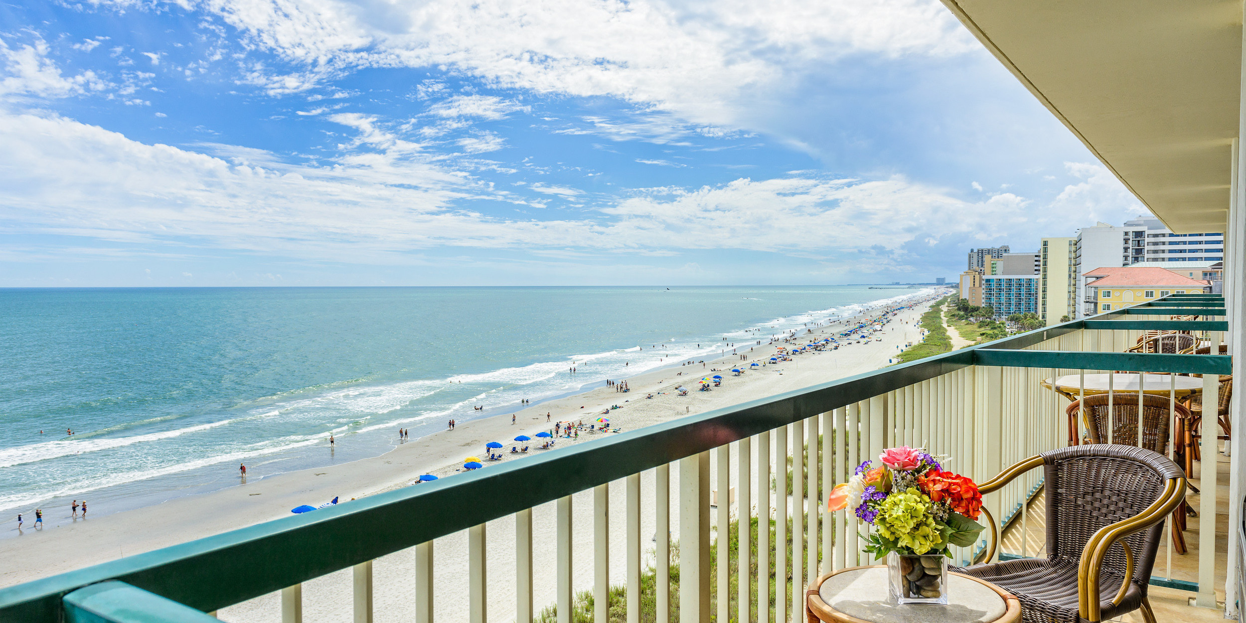 Oceanfront View From Grand Strand Resort Balcony Myrtle Beach Resorts Westgate Myrtle Beach Oceanfront