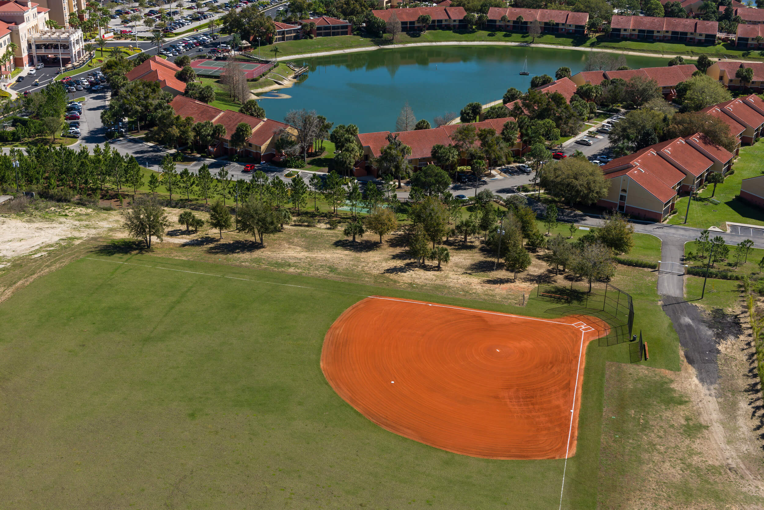 Softball field for team building events at our Kissimmee Hotel | Westgate Town Center Resort & Spa | Westgate Resorts