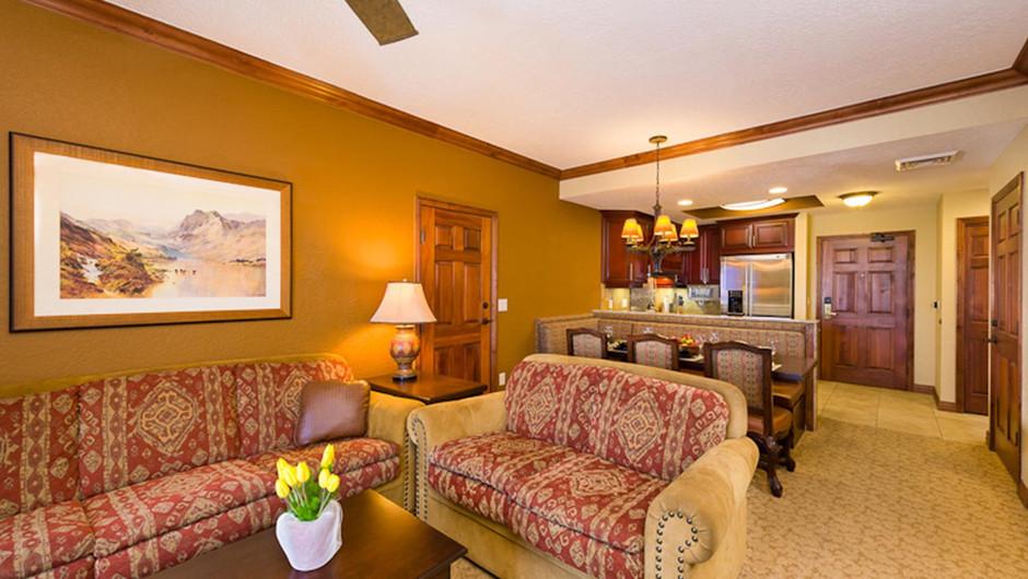 Luxury Two-Bedroom Villa Living Area at our Park City Resort in Utah | Westgate Park City Resort & Spa | Westgate Resorts