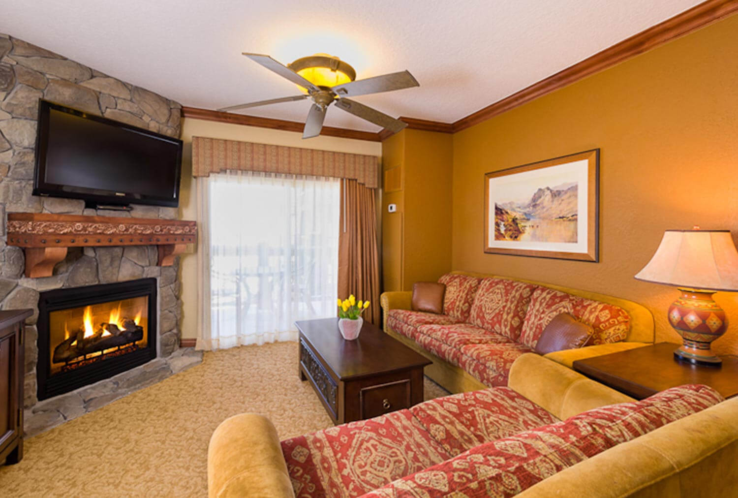 Luxury One-Bedroom Villa Living Area at our Park City Resort in Utah | Westgate Park City Resort & Spa | Westgate Resorts