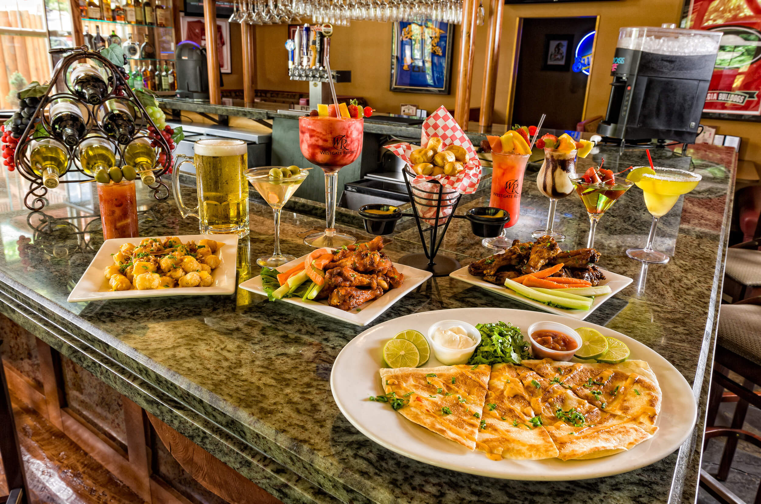 Appetizers at Roaring Fork Snack Bar | Westgate Smoky Mountain Resort & Spa