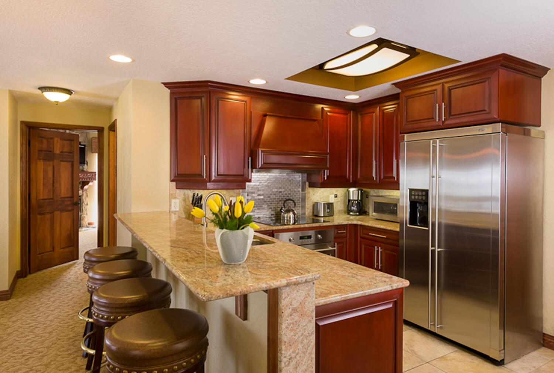 Luxury Four-Bedroom Villa Kitchen at our Park City Utah Skiing Resort | Westgate Park City Resort & Spa | Westgate Ski Resorts