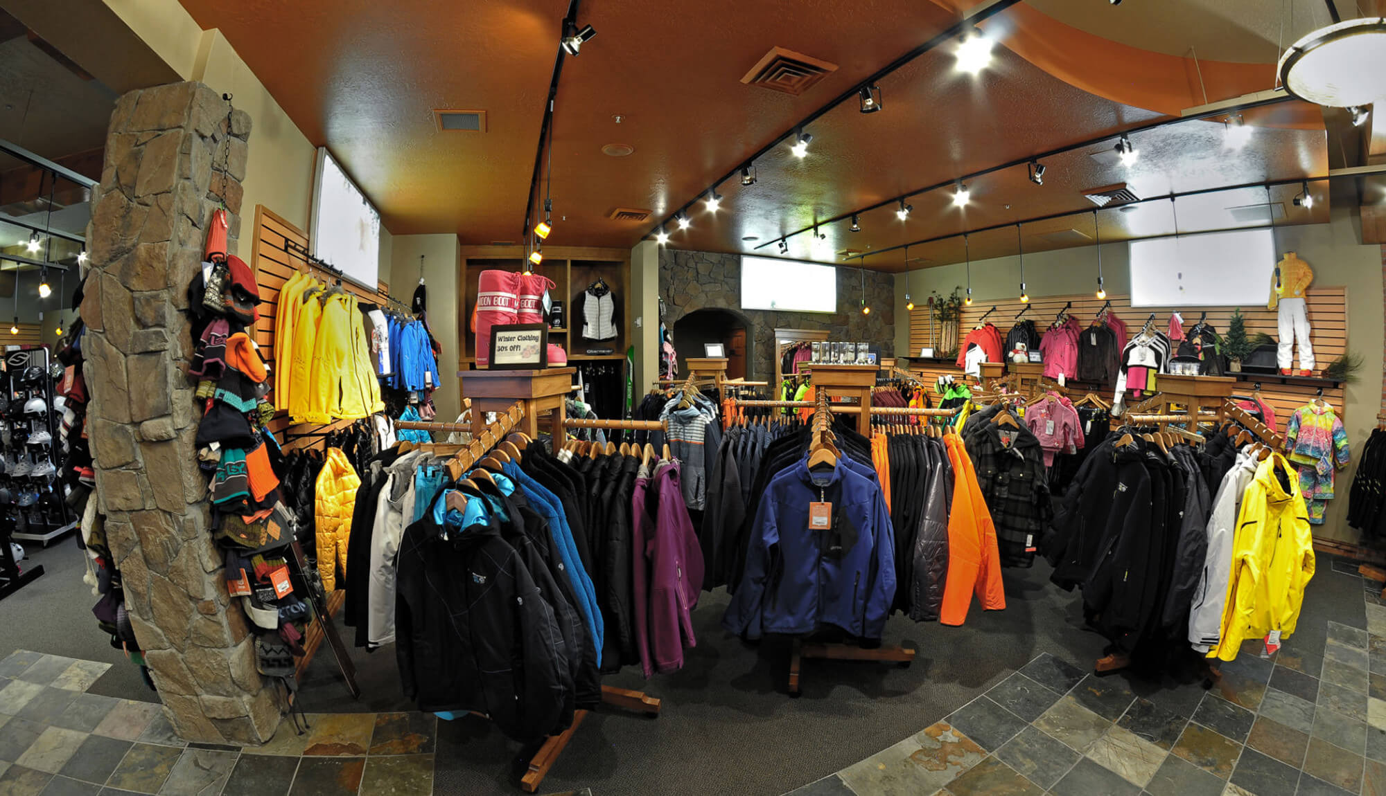 Ski jackets and hats on display | Westgate Park City Resort & Spa