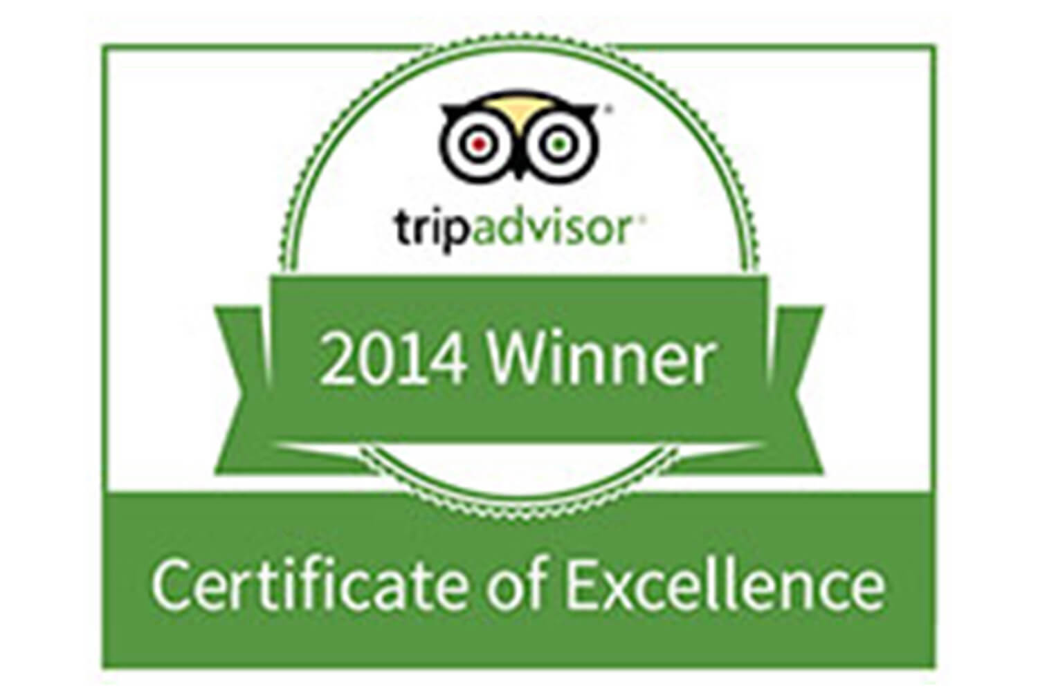 2014 Certificate of Excellence, TripAdvisor | Westgate Park City Resort & Spa | Westgate Resorts