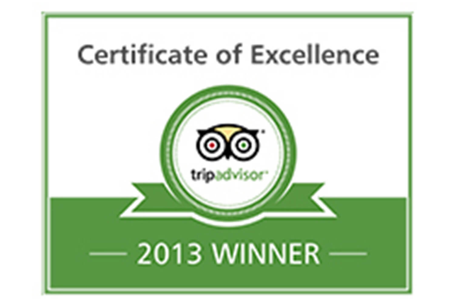 2013 Certificate of Excellence, TripAdvisor | Westgate Park City Resort & Spa | Westgate Resorts