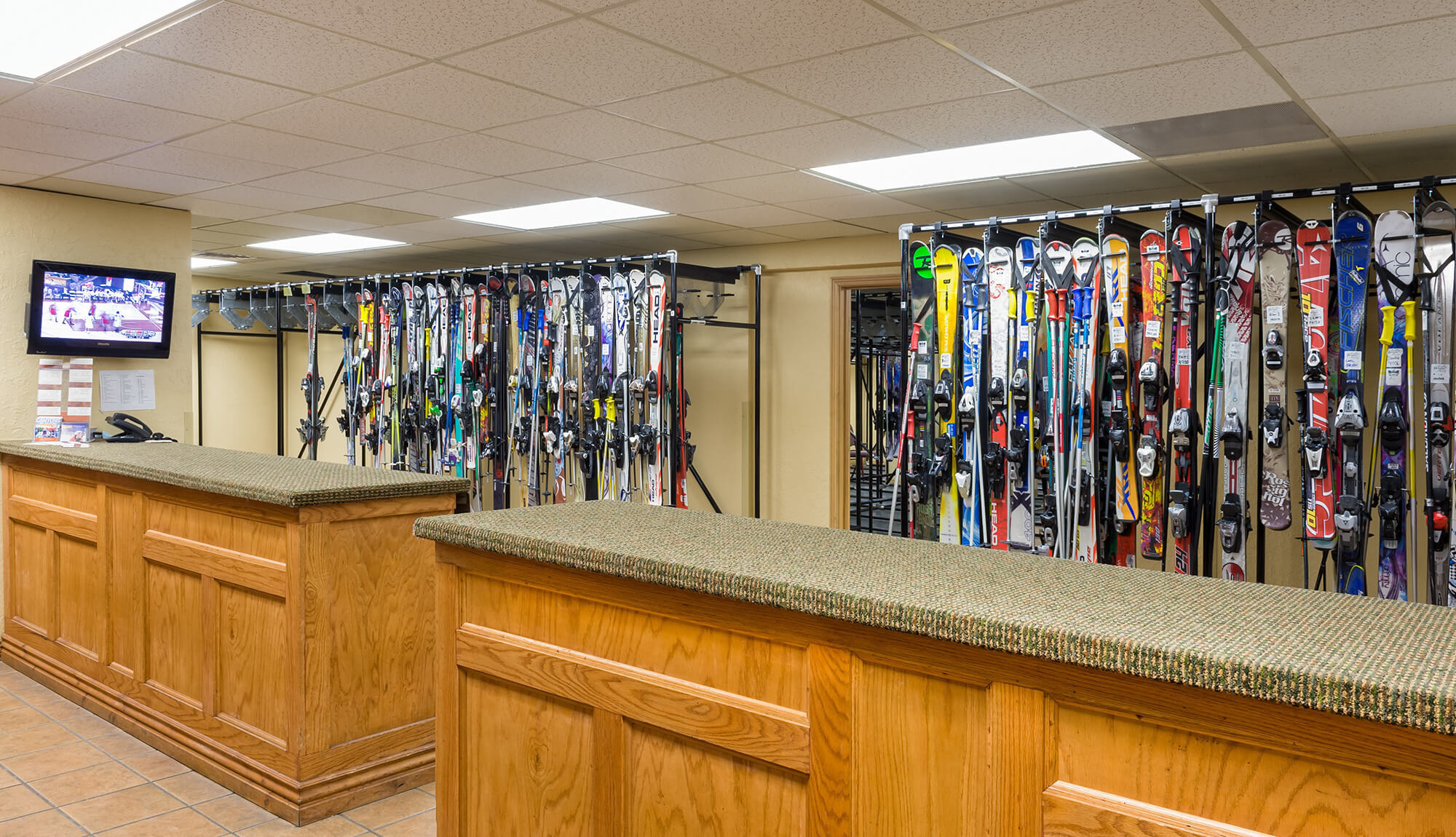 Front desk at Free Ski Valet Service in Park City Utah | Westgate Park City Resort & Spa | Westgate Resorts Ski Rental