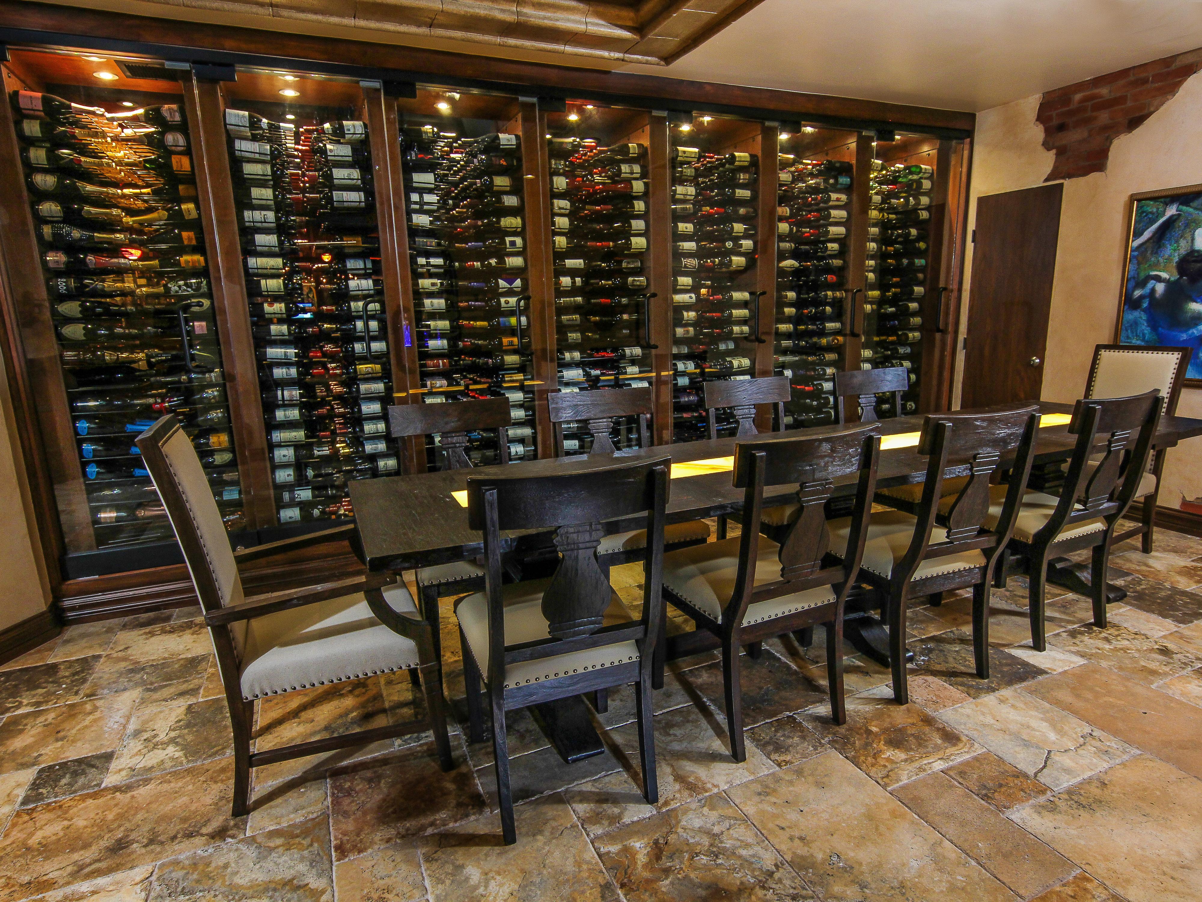 Reserved table in the Edge Steakhouse wine room | Westgate Las Vegas Resort