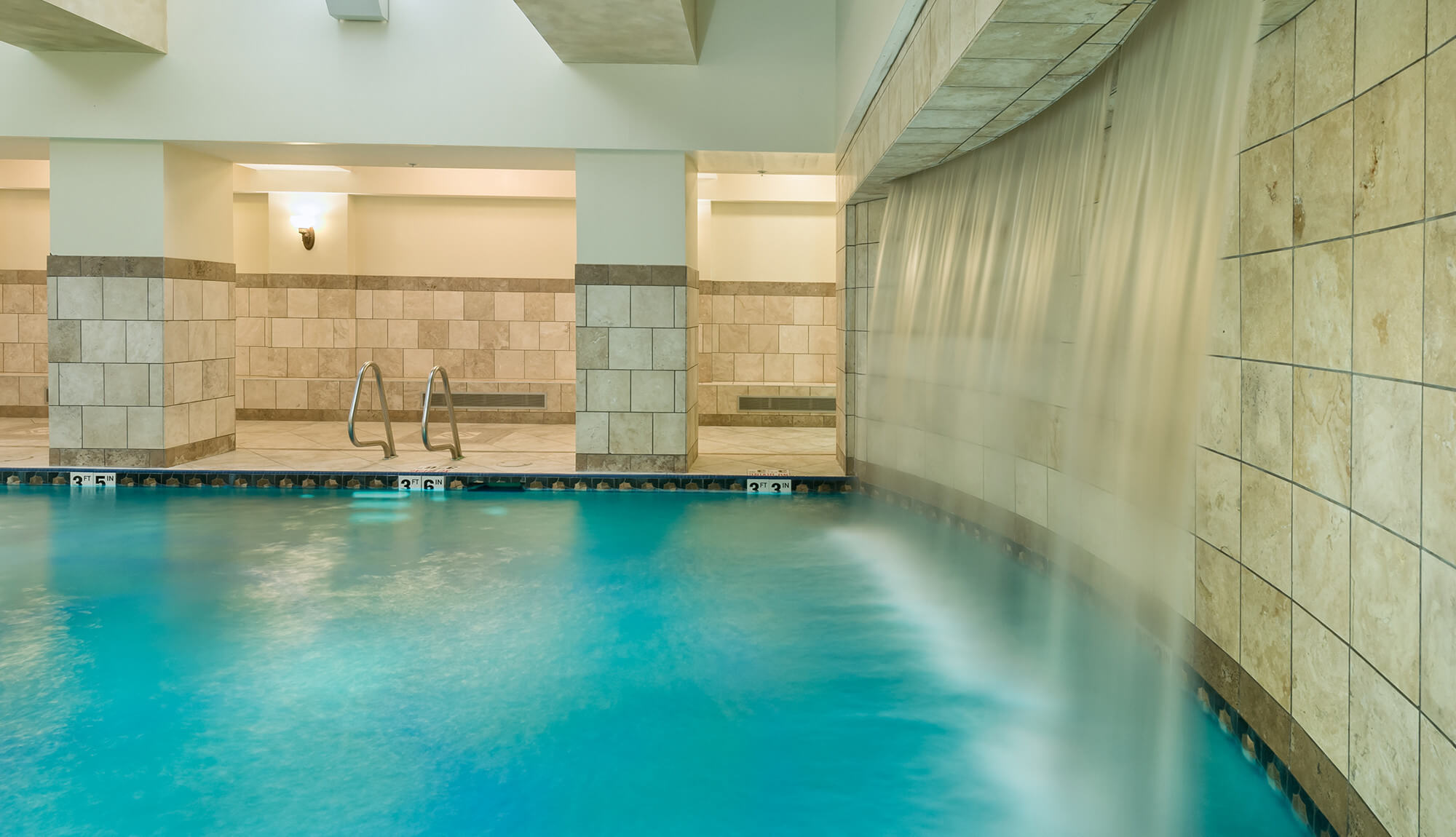 Pool with waterfall at Serenity Spa | Westgate Park City Resort & Spa