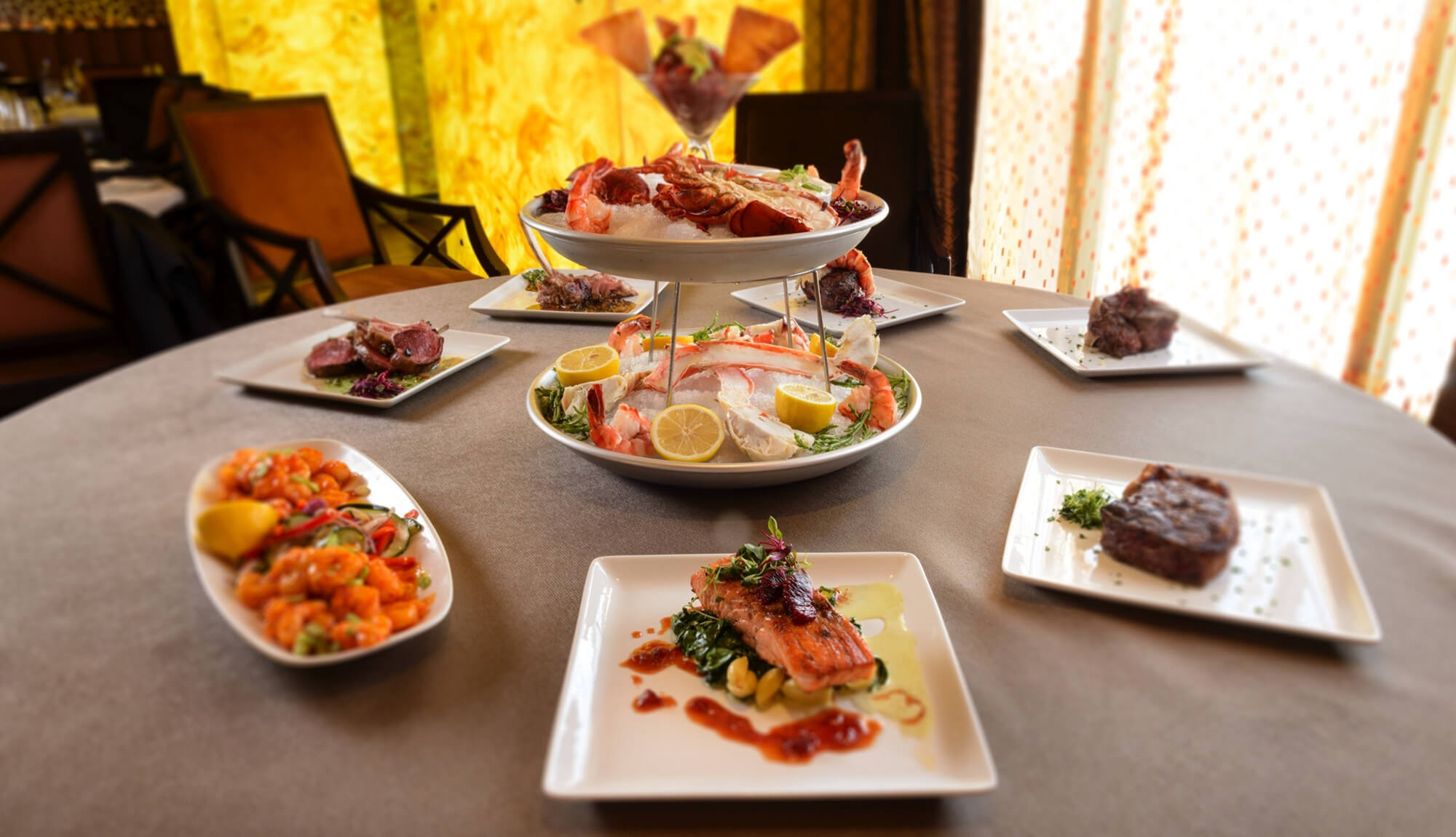 Steak and seafood selections on display | Westgate Park City Resort & Spa