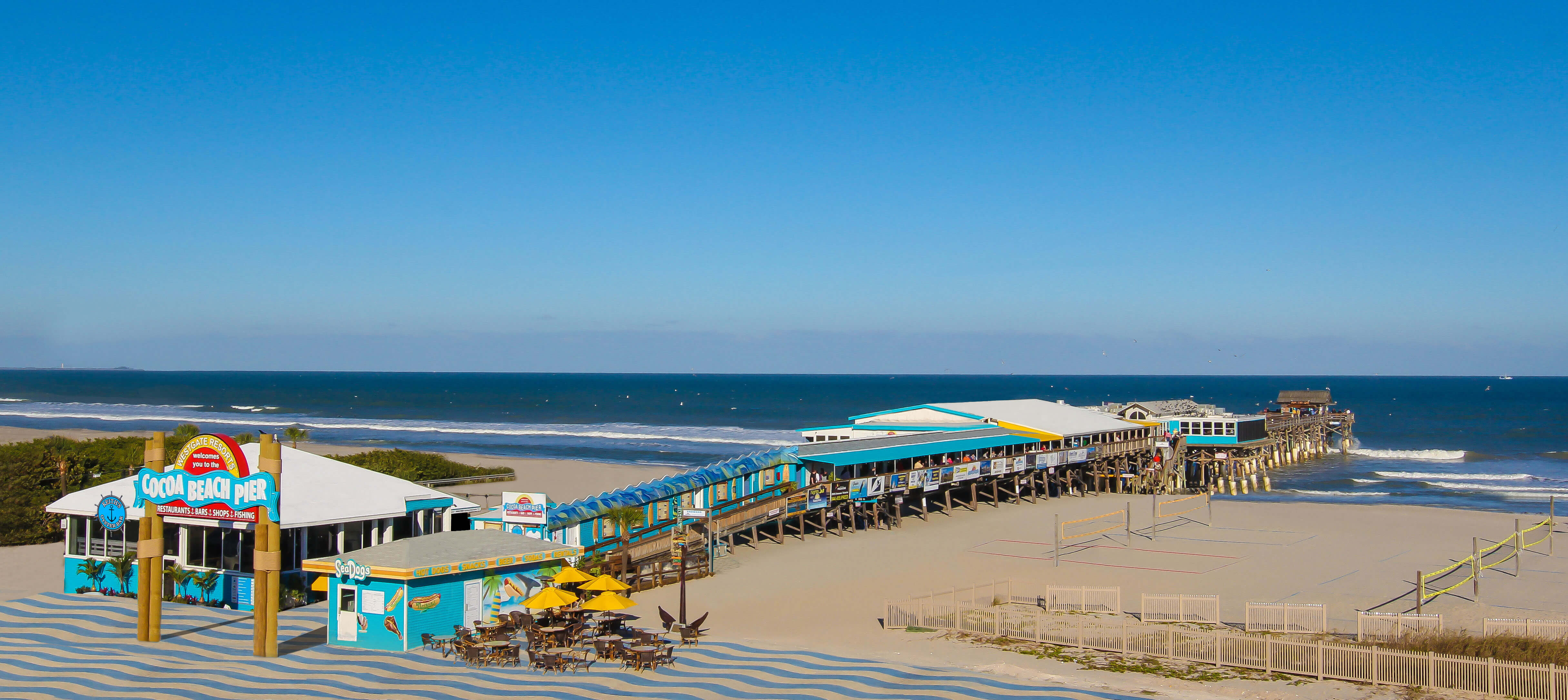 Cocoa Beach Pier Opens New End Of Tiki Bar