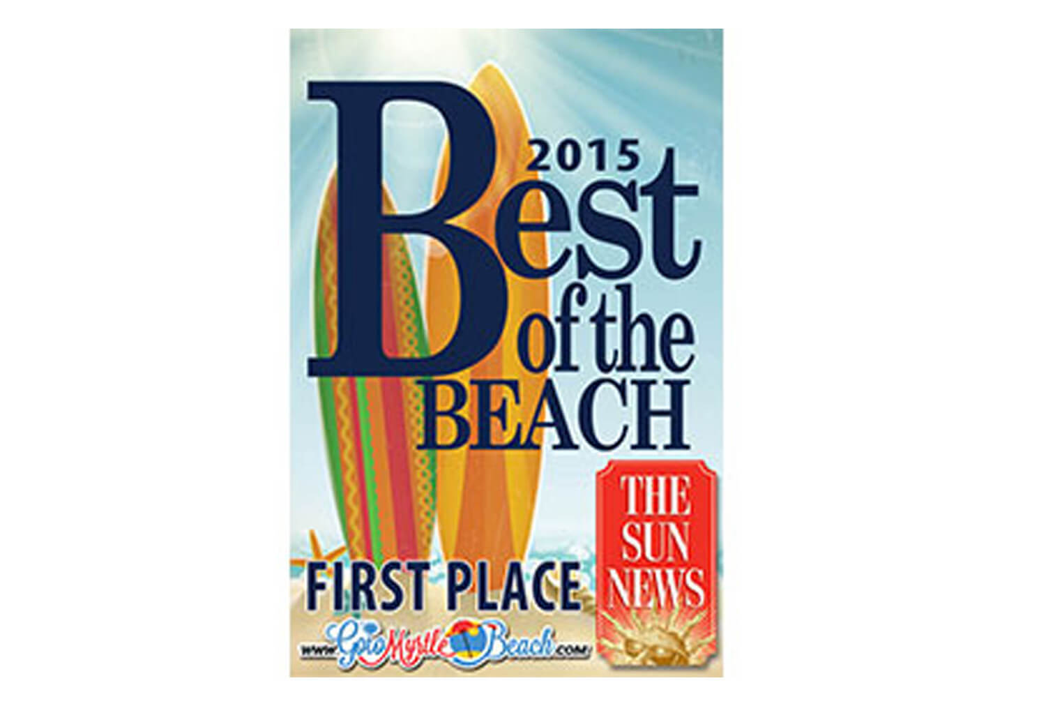 2015 Best of the Beach Award | Westgate Myrtle Beach Oceanfront Resort | Westgate Resorts