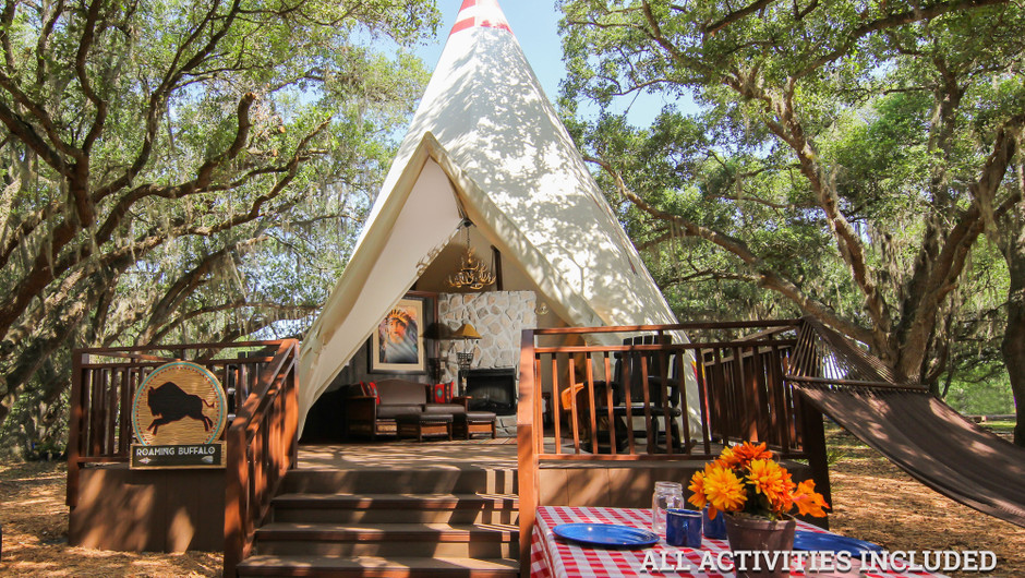 View Inside Luxe Teepees |  Westgate River Ranch Resort & Rodeo | Westgate Resorts
