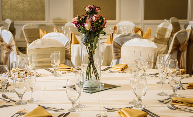 Decor in our Wedding event space rental at our hotel | Hotel wedding receptions for Orlando wedding planners | Westgate Lakes Resort & Spa