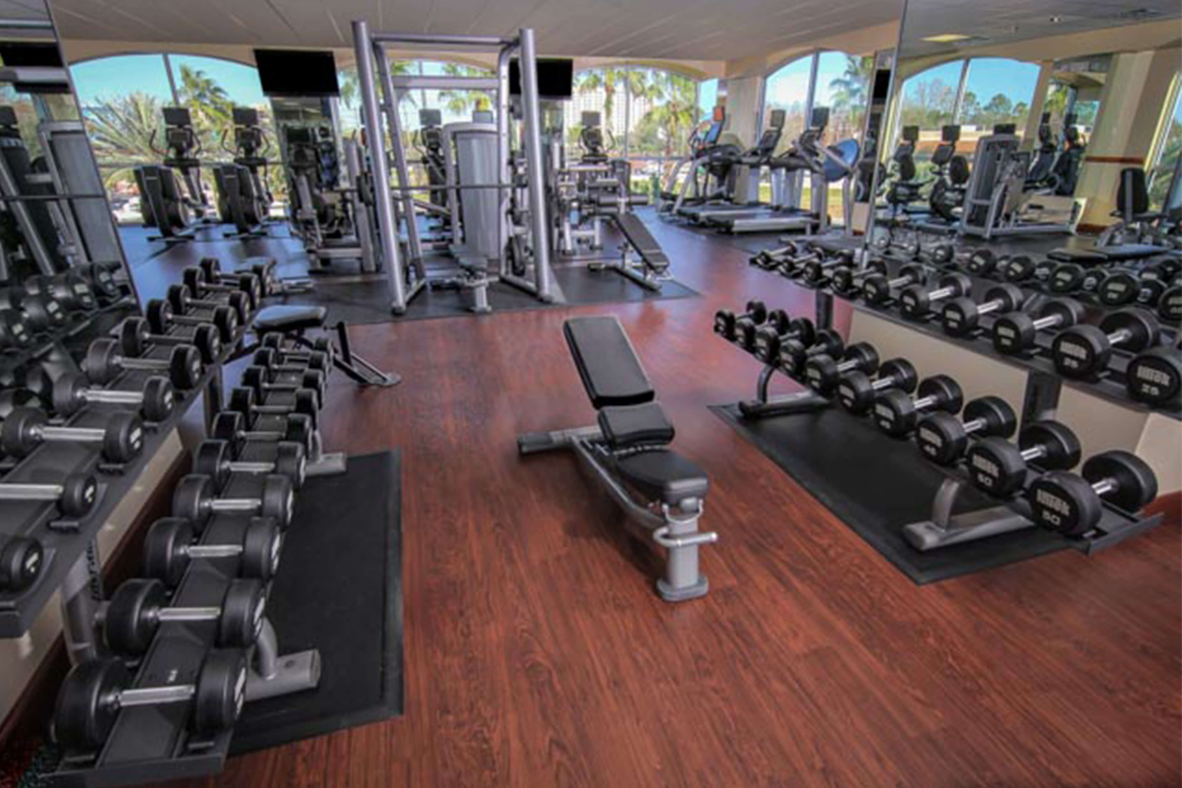 Fitness center westgate lakes resort spa in orlando for Salon fitness