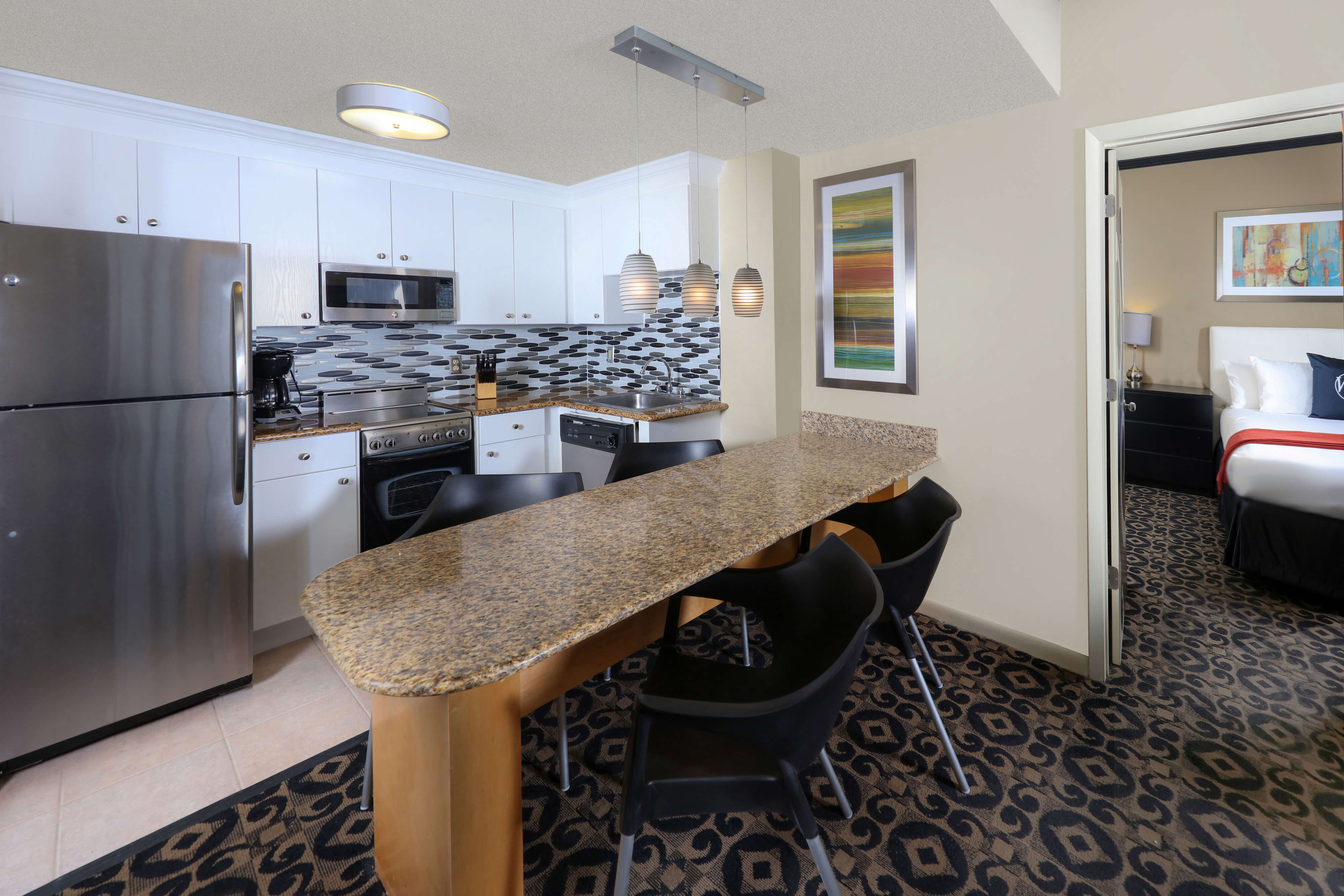 Kitchen in One-Bedroom Oceanfront Villas at our Miami Beach oceanfront resorts | Westgate South Beach Oceanfront Resort | Westgate Resorts
