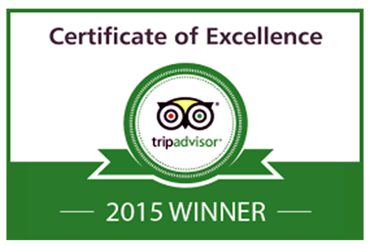 2015 Trip Advisor Certificate of Excellence | Westgate Park City Resort & Spa | Westgate Resorts