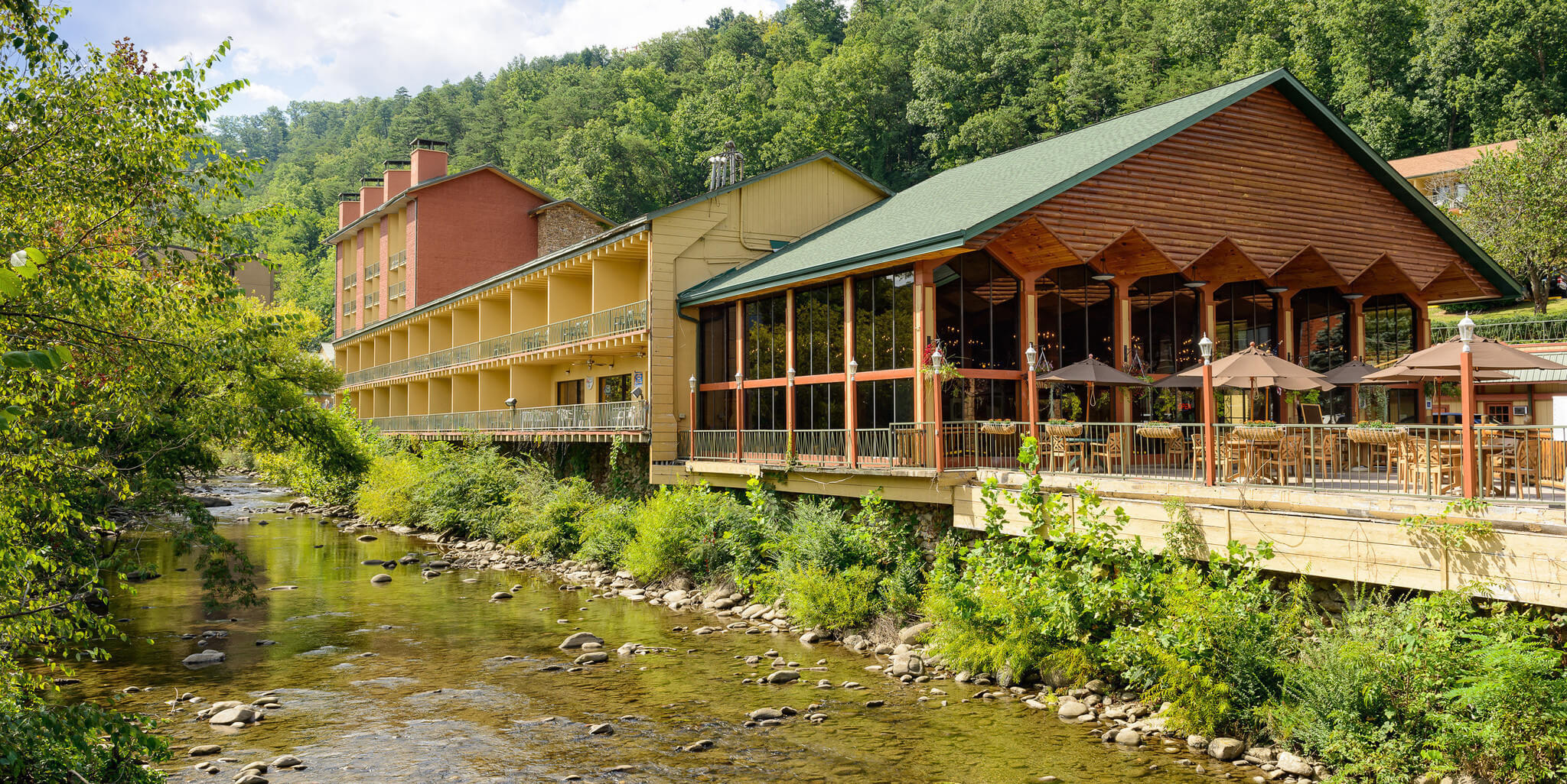 Sports Grill With Outdoor Deck Along Little Pigeon River In Downtown Gatlinburg Terrace Resort
