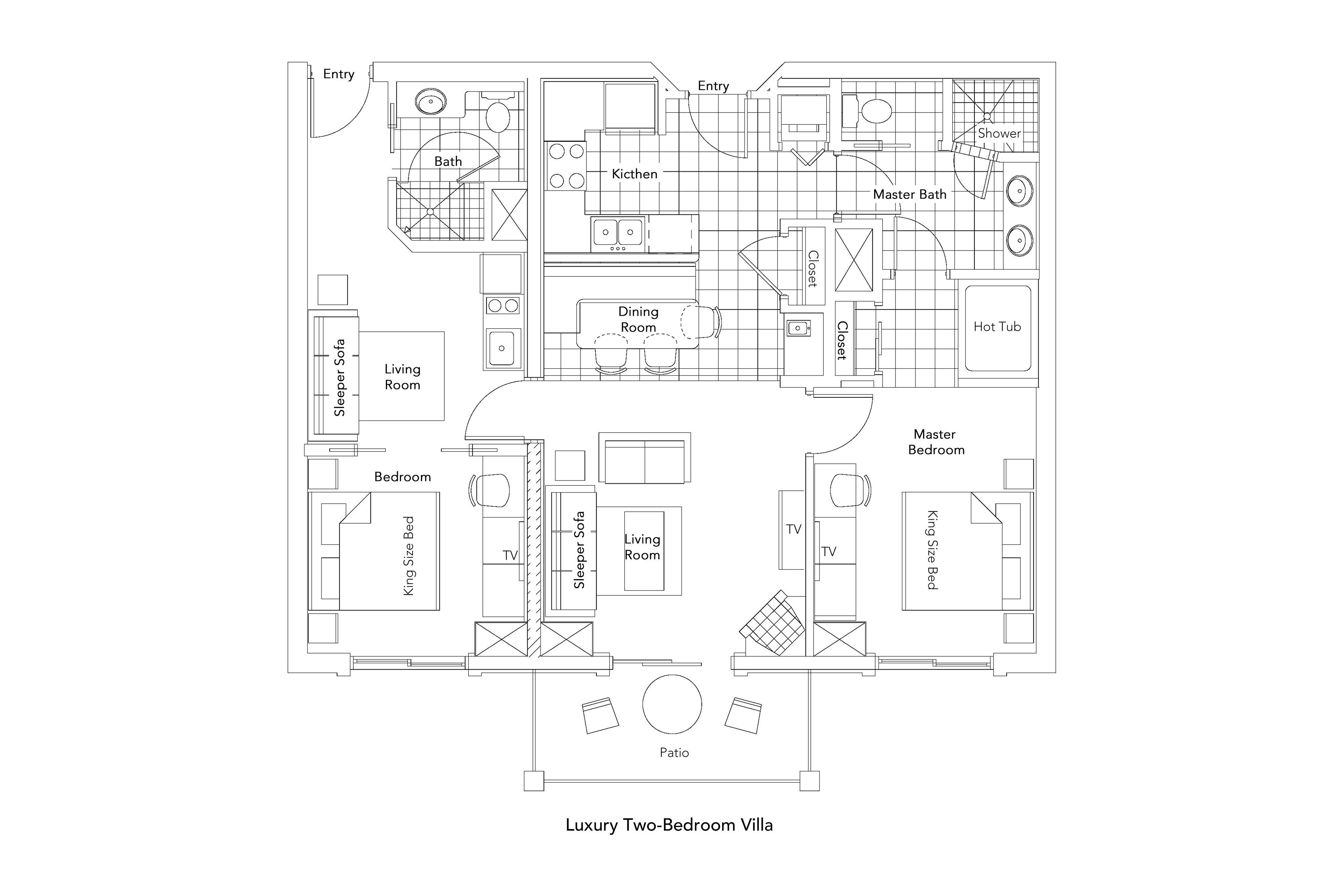 Luxury Two-Bedroom Villa Floorplan - Park City Resort in Utah   Westgate Park City Resort & Spa   Westgate Resorts