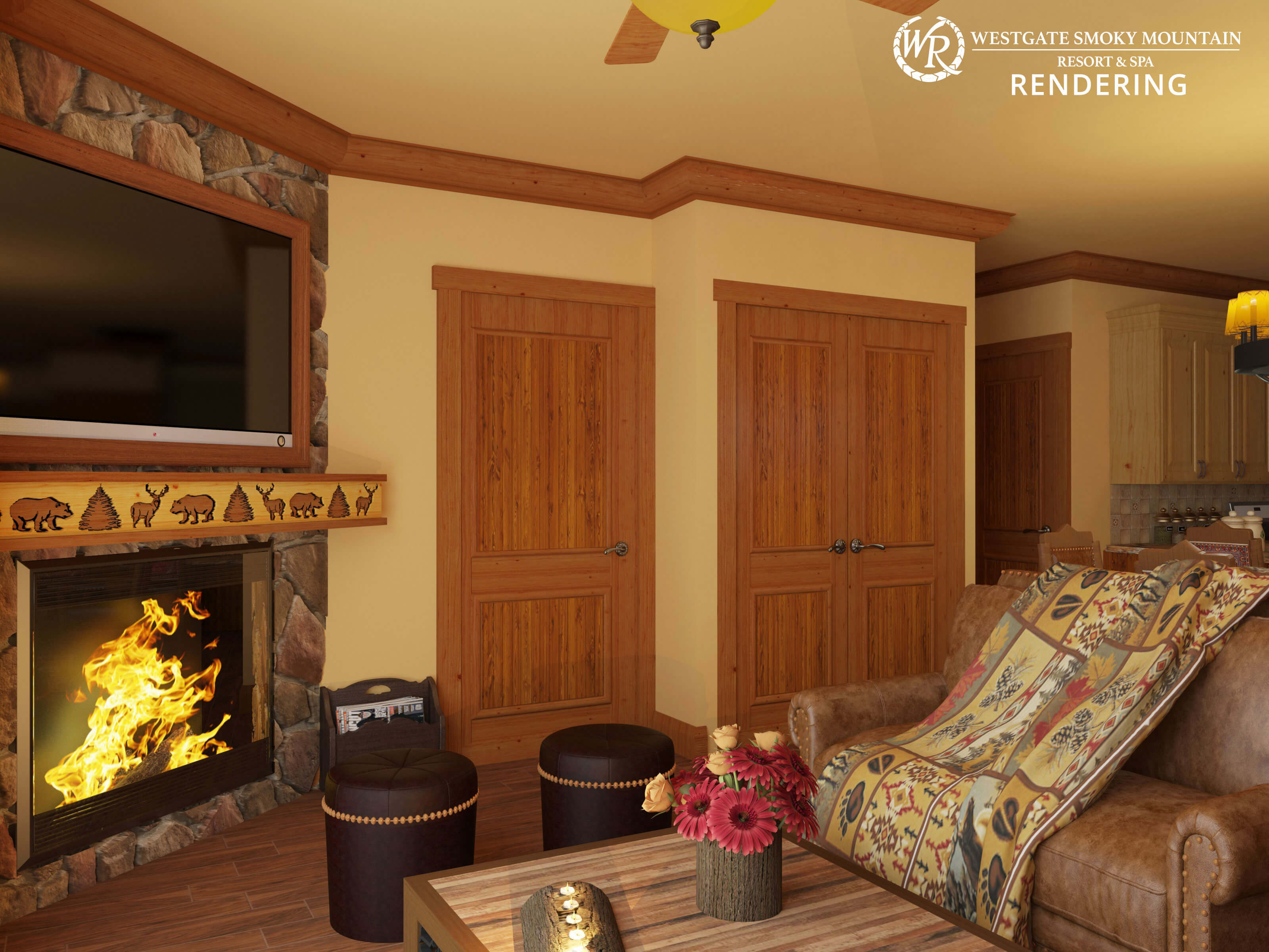 Rendering of Smoky Mountain resort timeshare in Gatlinburg TN | Westgate Smoky Mountain Resort & Spa | Westgate Resorts