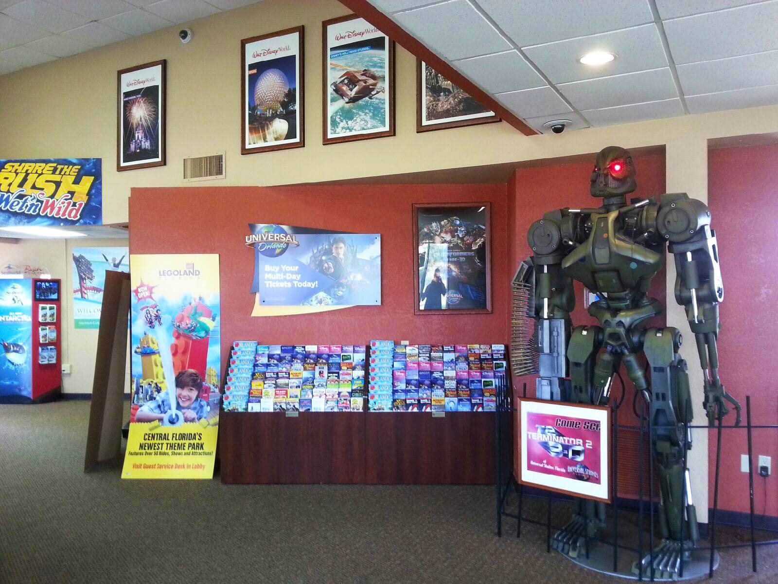 Inside an Orlando Tourism Welcome Center