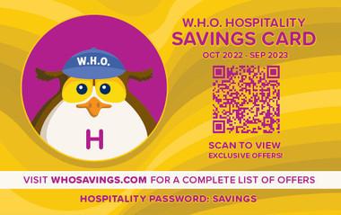 WHO Hospitality Card